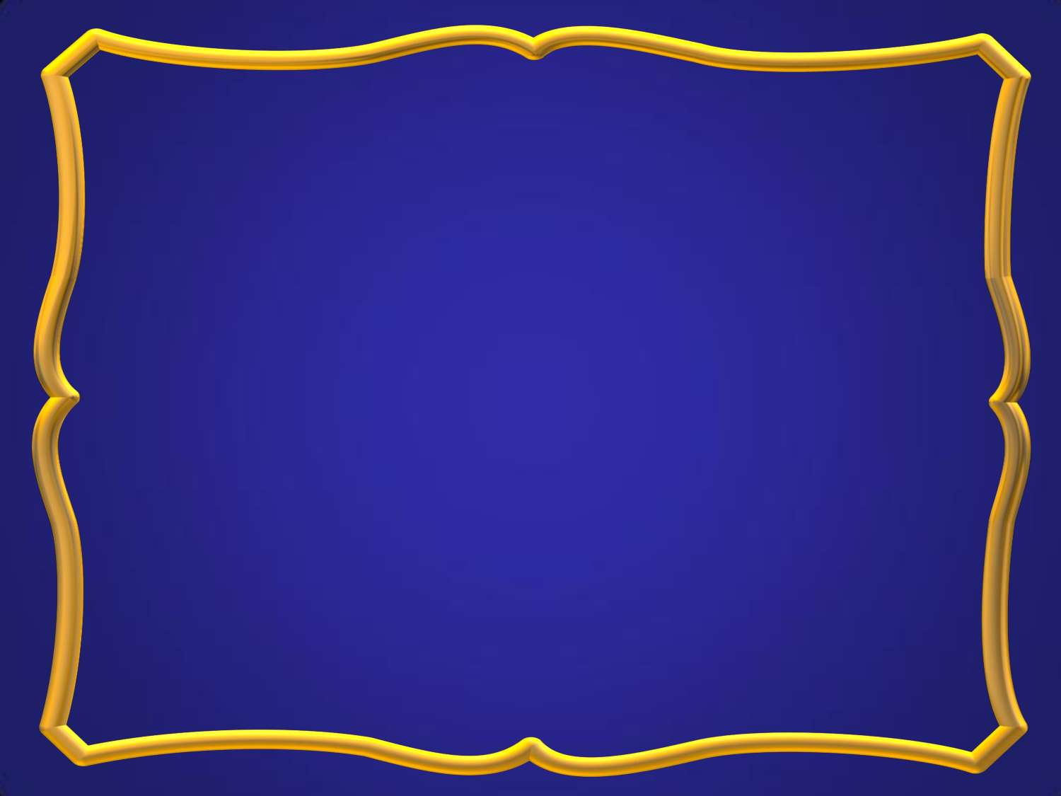 Blue gold frame Background Wallpaper for PowerPoint Presentations 1500x1125