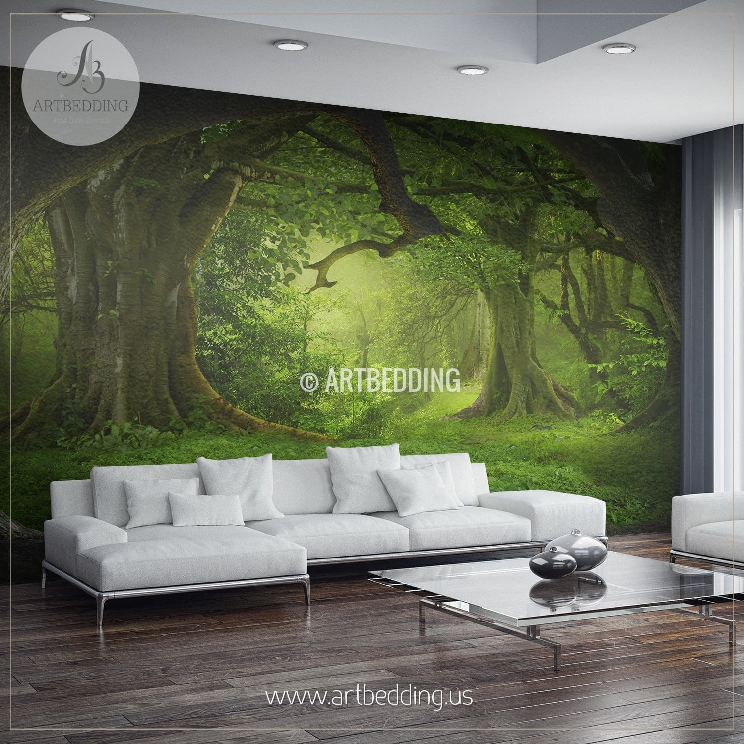 Magical Forest Self Adhesive Peel Stick Nature wall mural 1500x1500