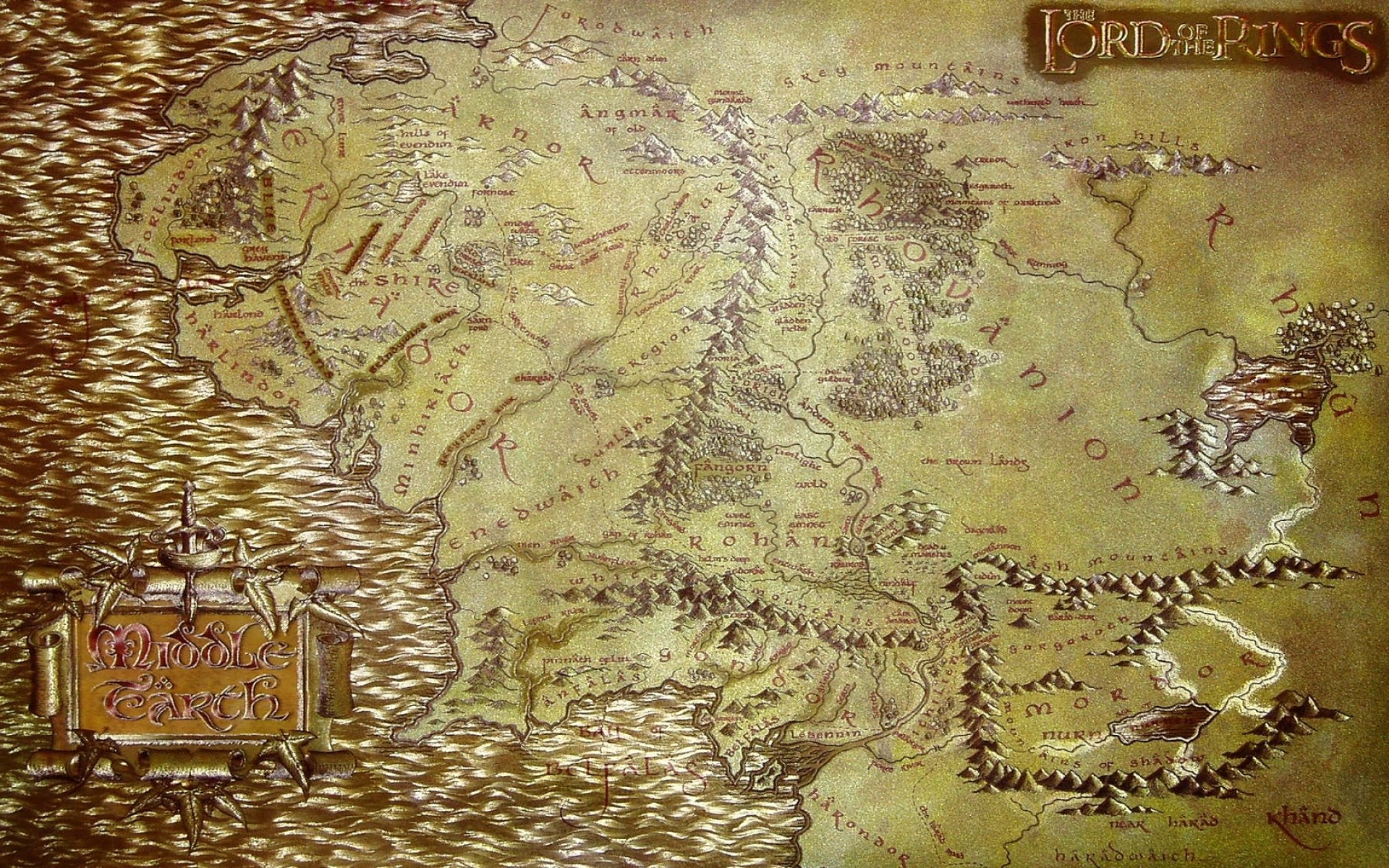 1920x1200 the lord of the rings maps middle earth 1680x1050 wallpaper 1920x1200