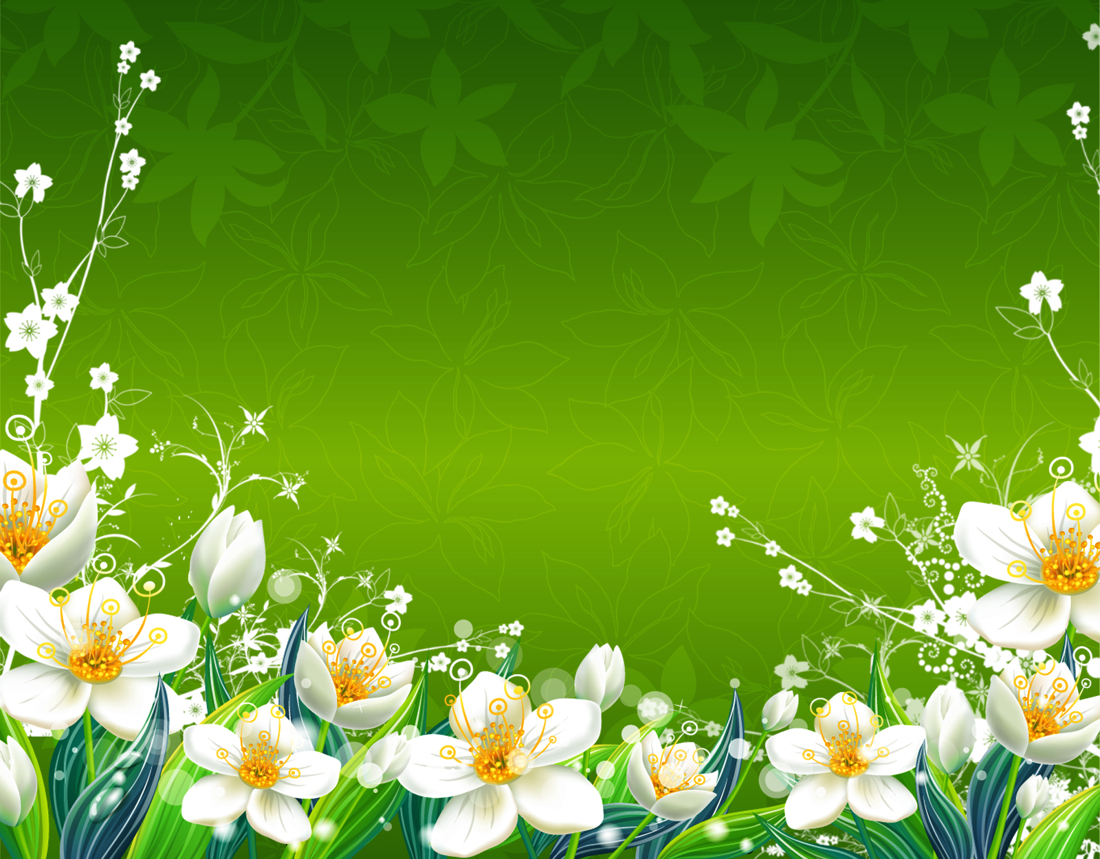 Green Flowers Wallpaper 1600x1250 Green Flowers Spring Floral 1600x1250