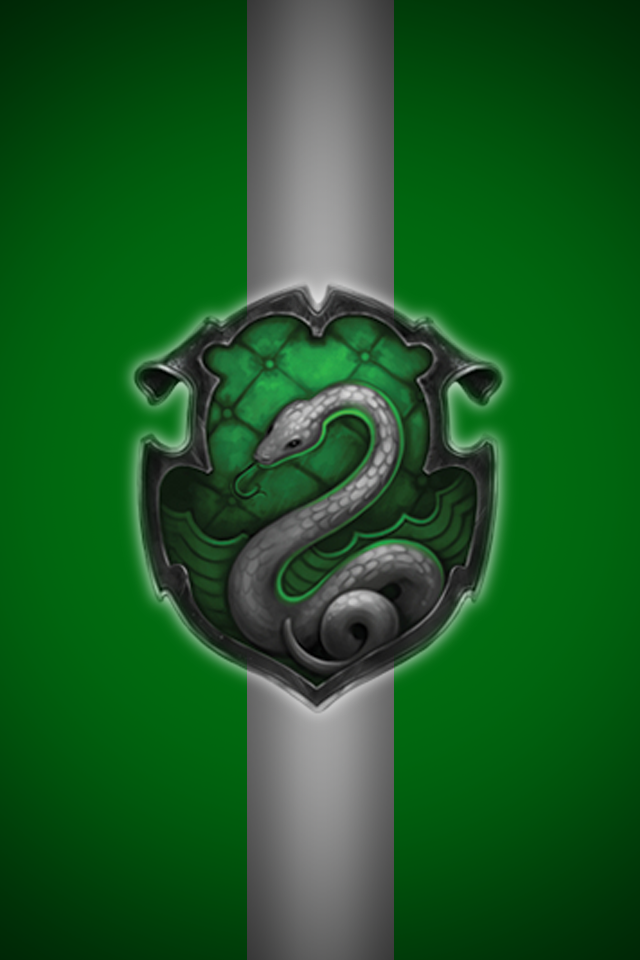Slytherin iPhone wallpaper 2 by technoKyle 640x960