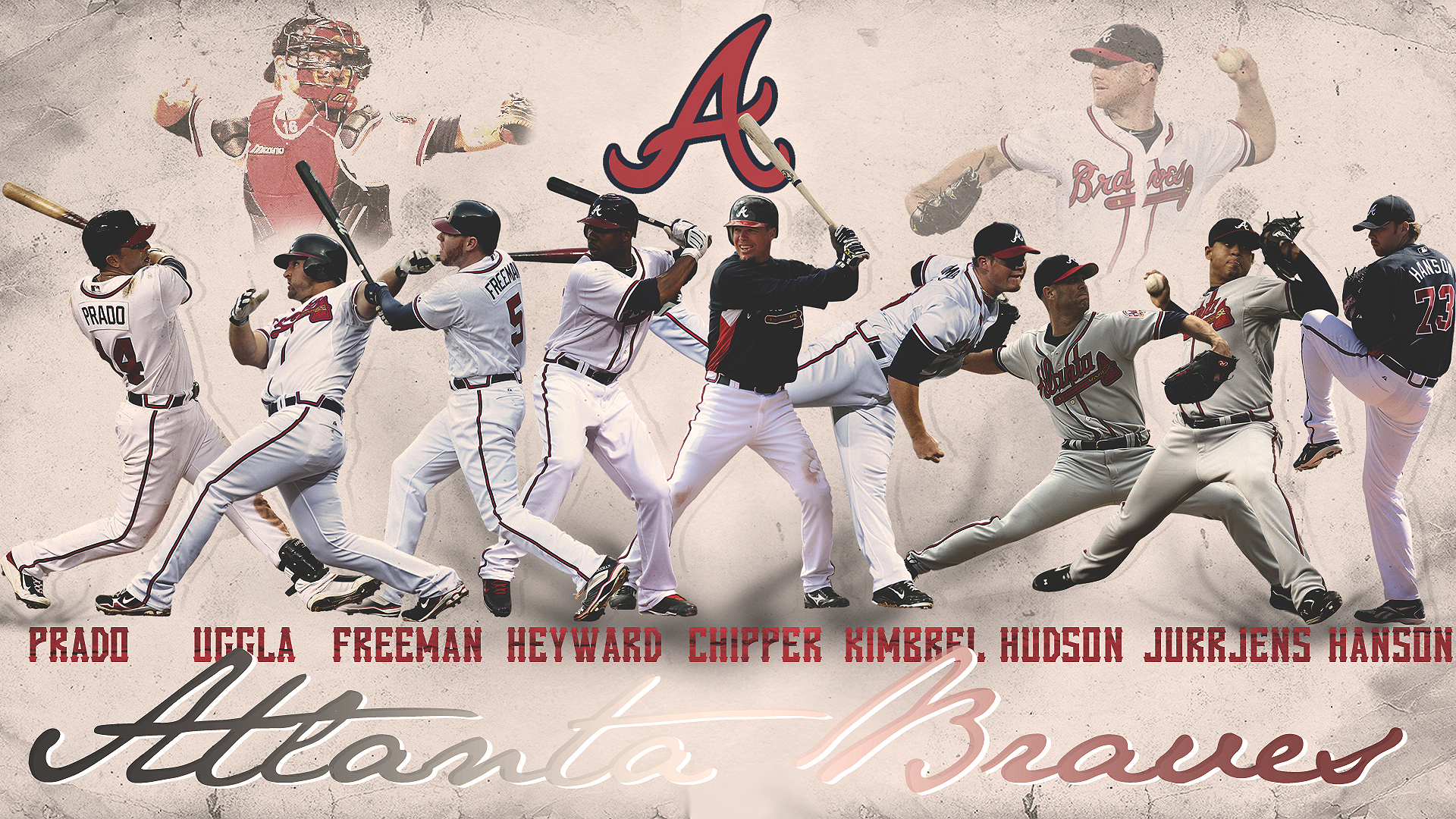 ATLANTA BRAVES baseball mlb ga wallpaper background 1920x1080