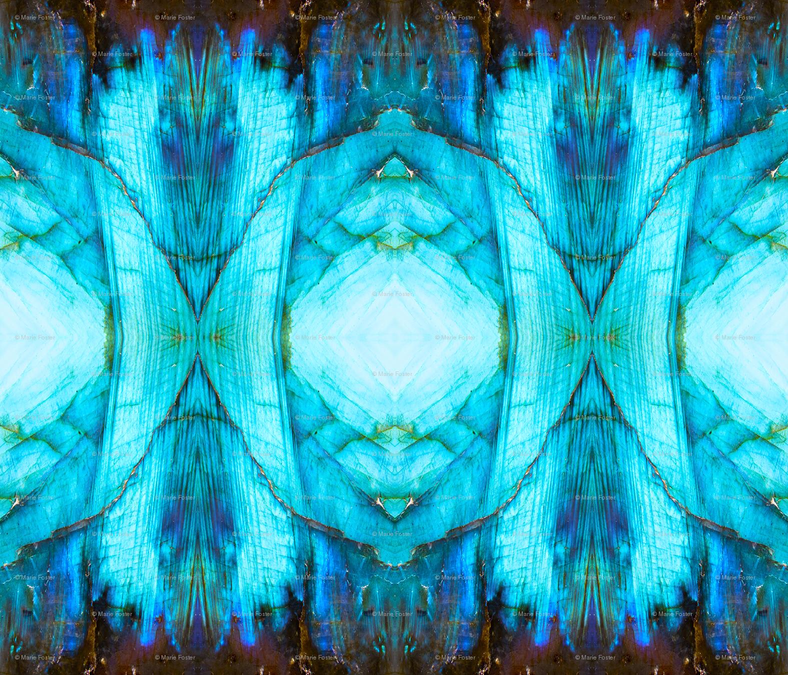 Blue Labradorite unfolded 1 yardage wallpaper   lightning seeds 1575x1350