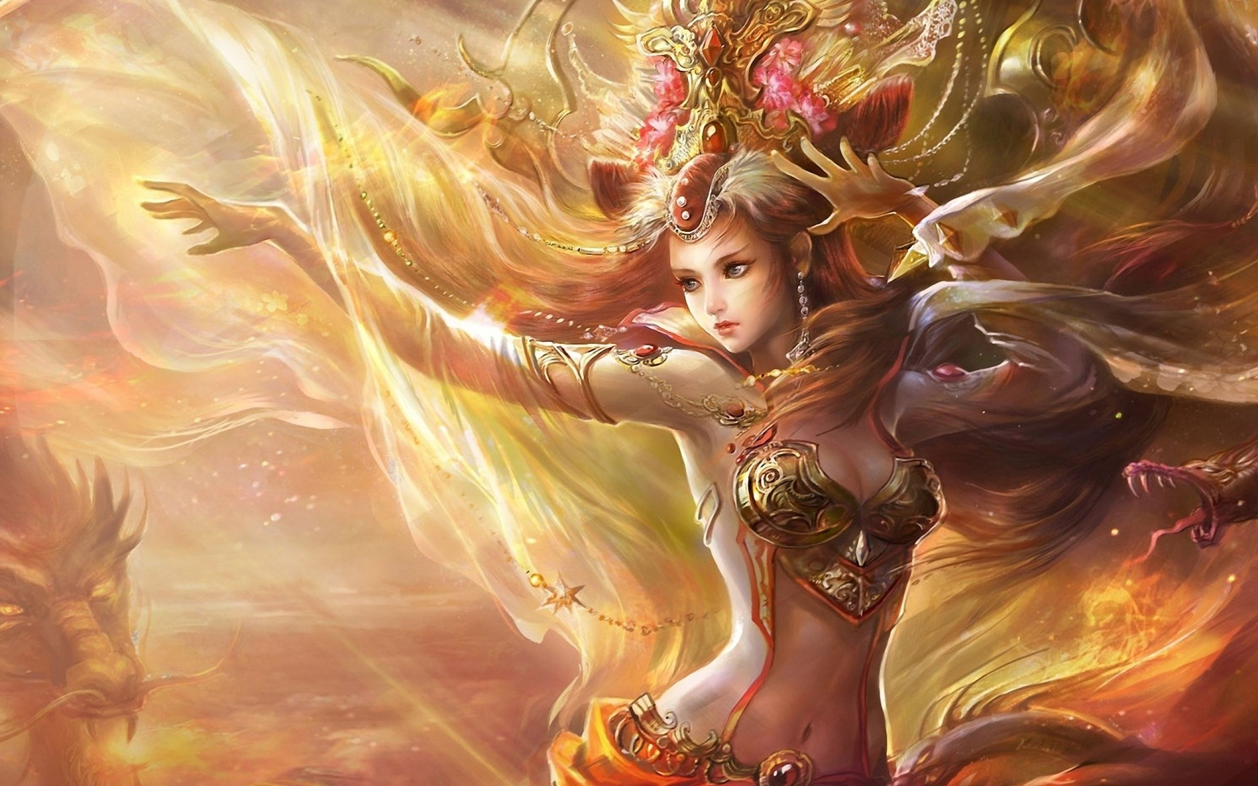Women Fantasy Art Artwork HD Wallpaper For Desktop 2560x1600