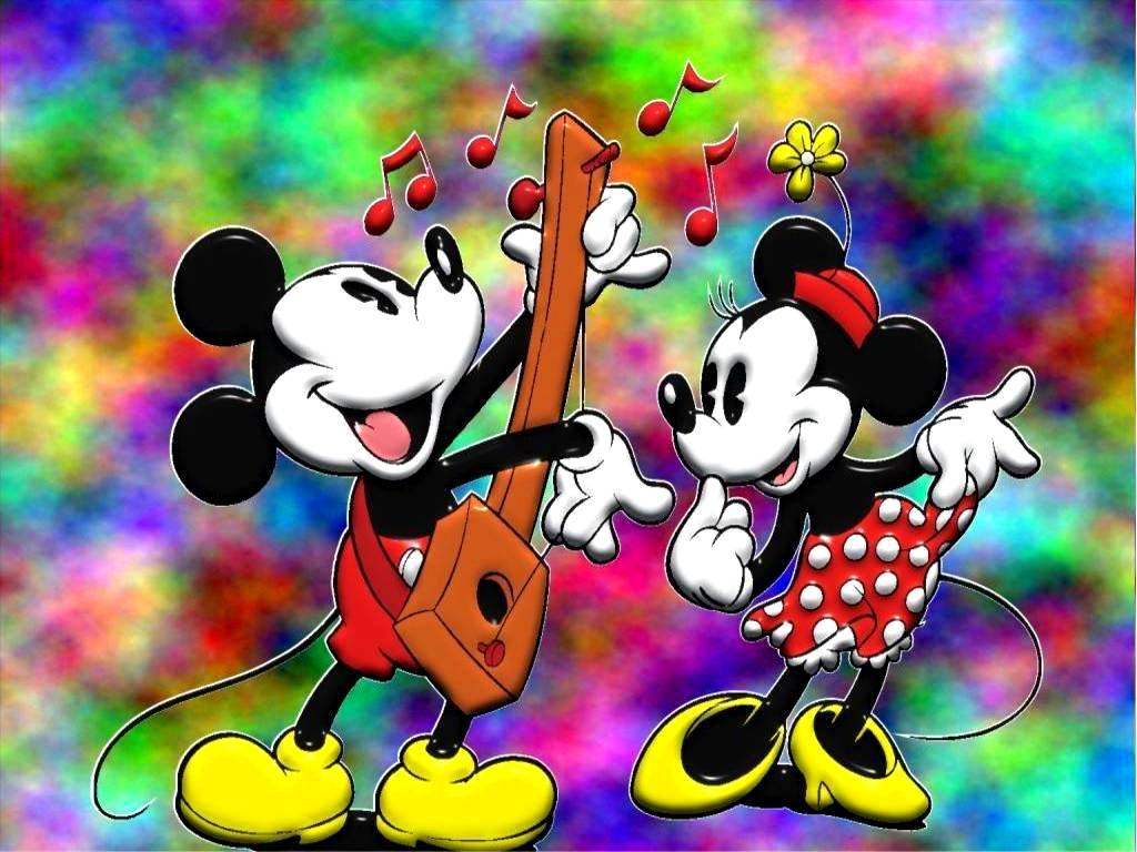 Mouse And Minnie Mouse Cute Mickey Mouse And Minnie Mouse Wallpaper 1024x768