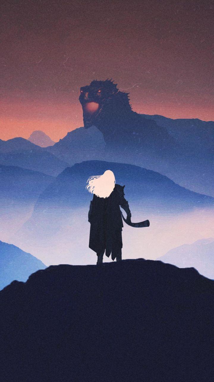 Aegon the conqueror dragon artwork game of thrones 720x1280 720x1280
