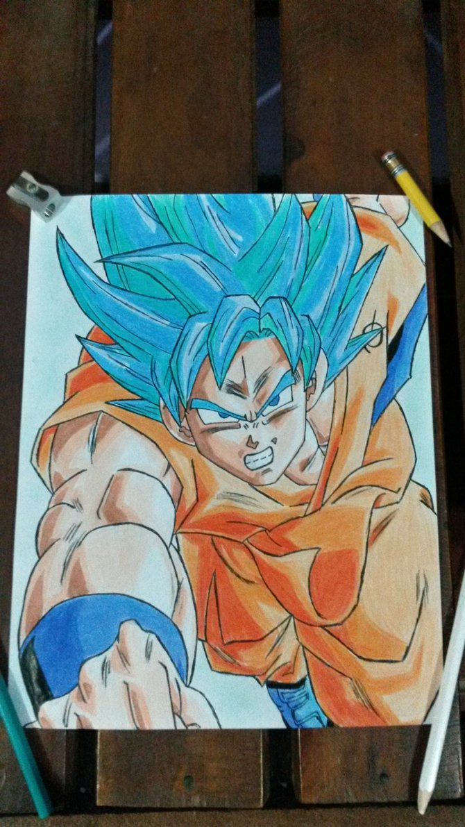 Goku Super Saiyan Blue SSGSS [Dragon Ball Z] by angelitowhd on 670x1191