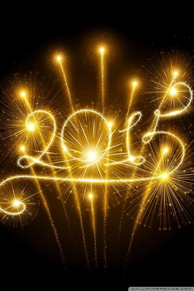Happy New Year 2015 Fireworks 4K HD Desktop Wallpaper for 4K 640x960