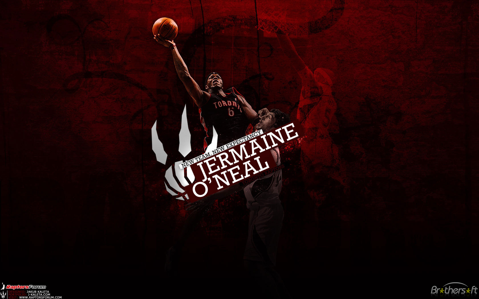 Basketball Player wallpaper Jermaine ONeal A Famous Basketball Player 1680x1050