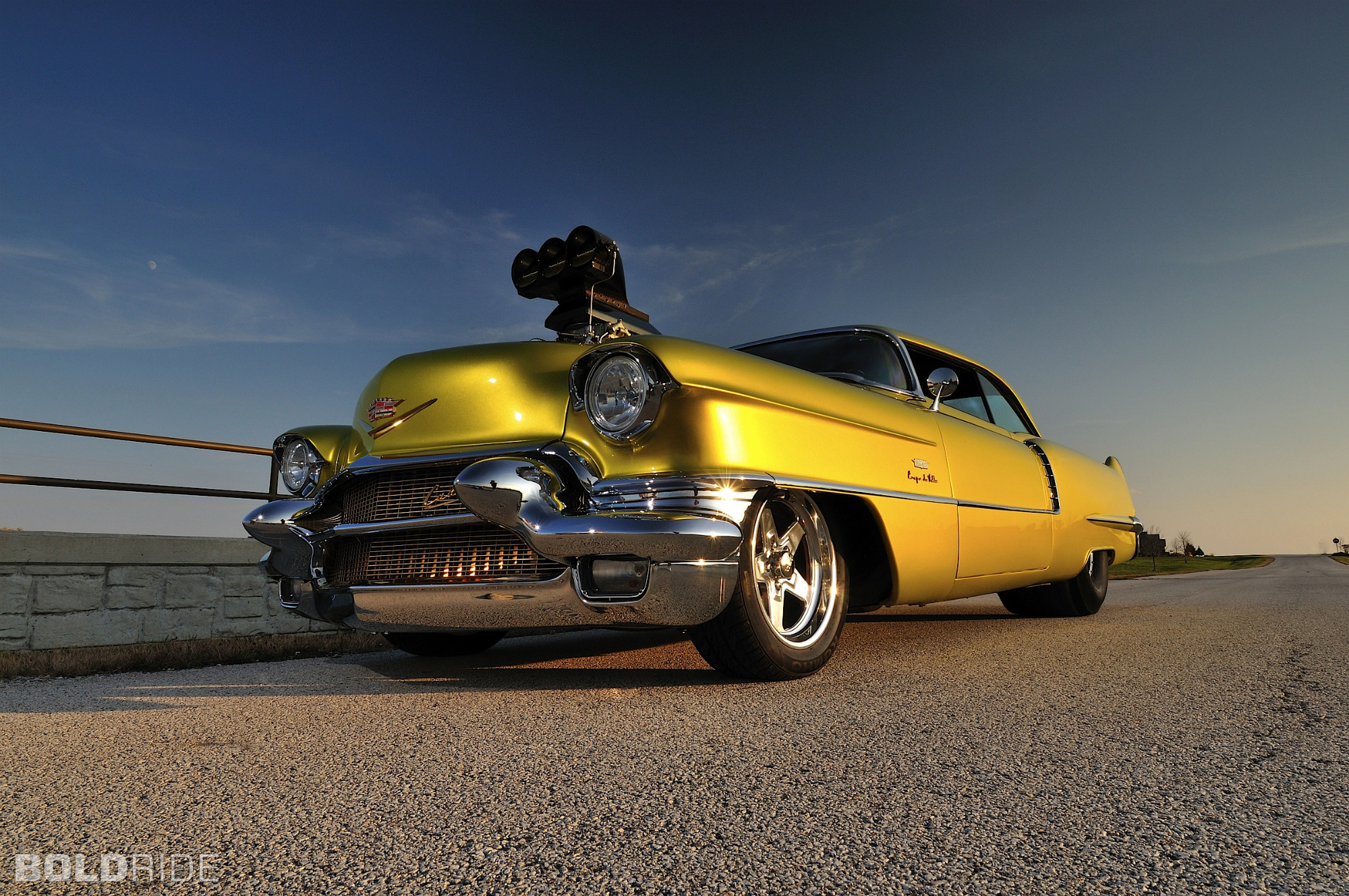 Cadillac Coupe deVille hot rod rods drag race racing retro w wallpaper 2000x1328