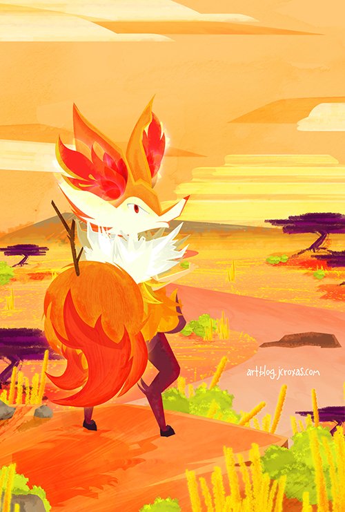 Braixens View by jcroxas 500x741