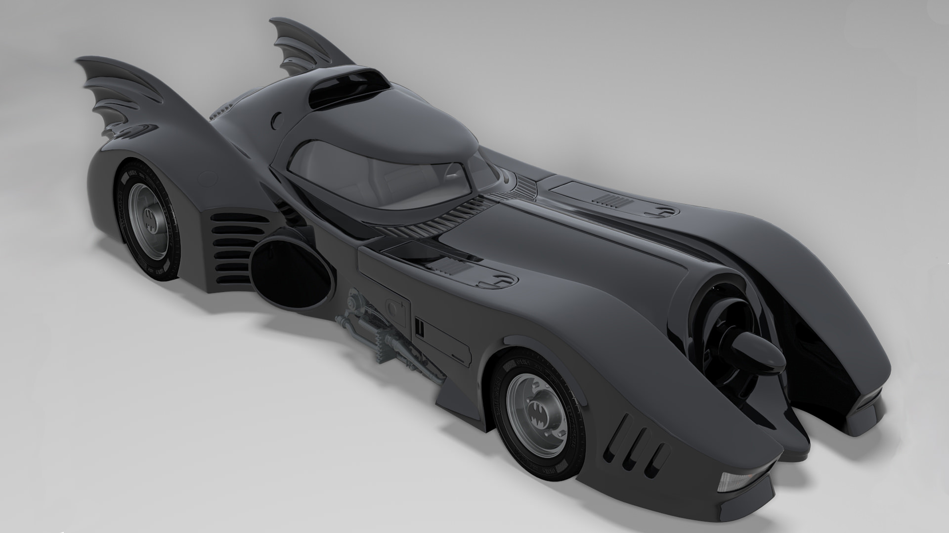 1989 Batmobile x Batmobile D Model for ds Max Maya Cinema D Lightwave 1920x1080