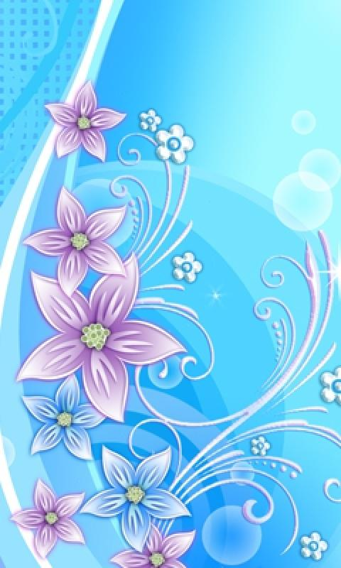 Pretty Blue Flowers Mobile Phone Wallpapers 480x800 Phone Hd Wallpaper 480x800