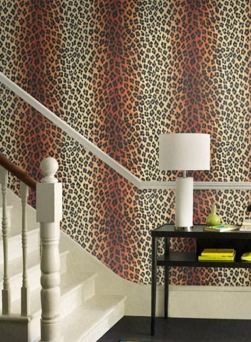 Leopard Print Bedroom Tumblr Leopard print wallpaper   chic 500x679