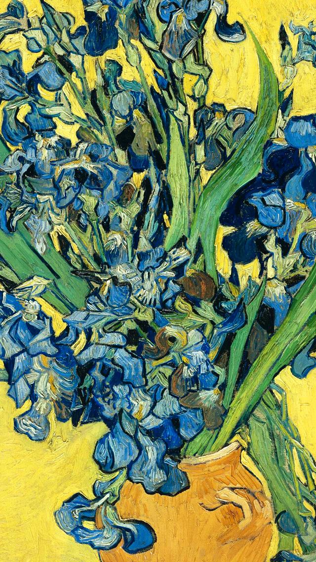 van gogh irises wallpaper