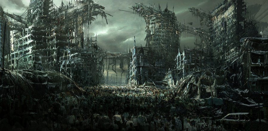 Zombie apocalypse hd wallpaper by Nekokiseki 900x442