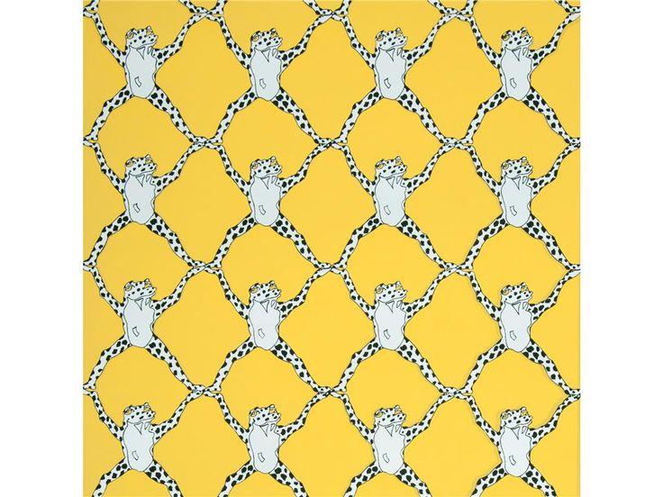 Trellis Wall Paper   Black White Yellow [URB 13212] Animal Wallpaper 736x552