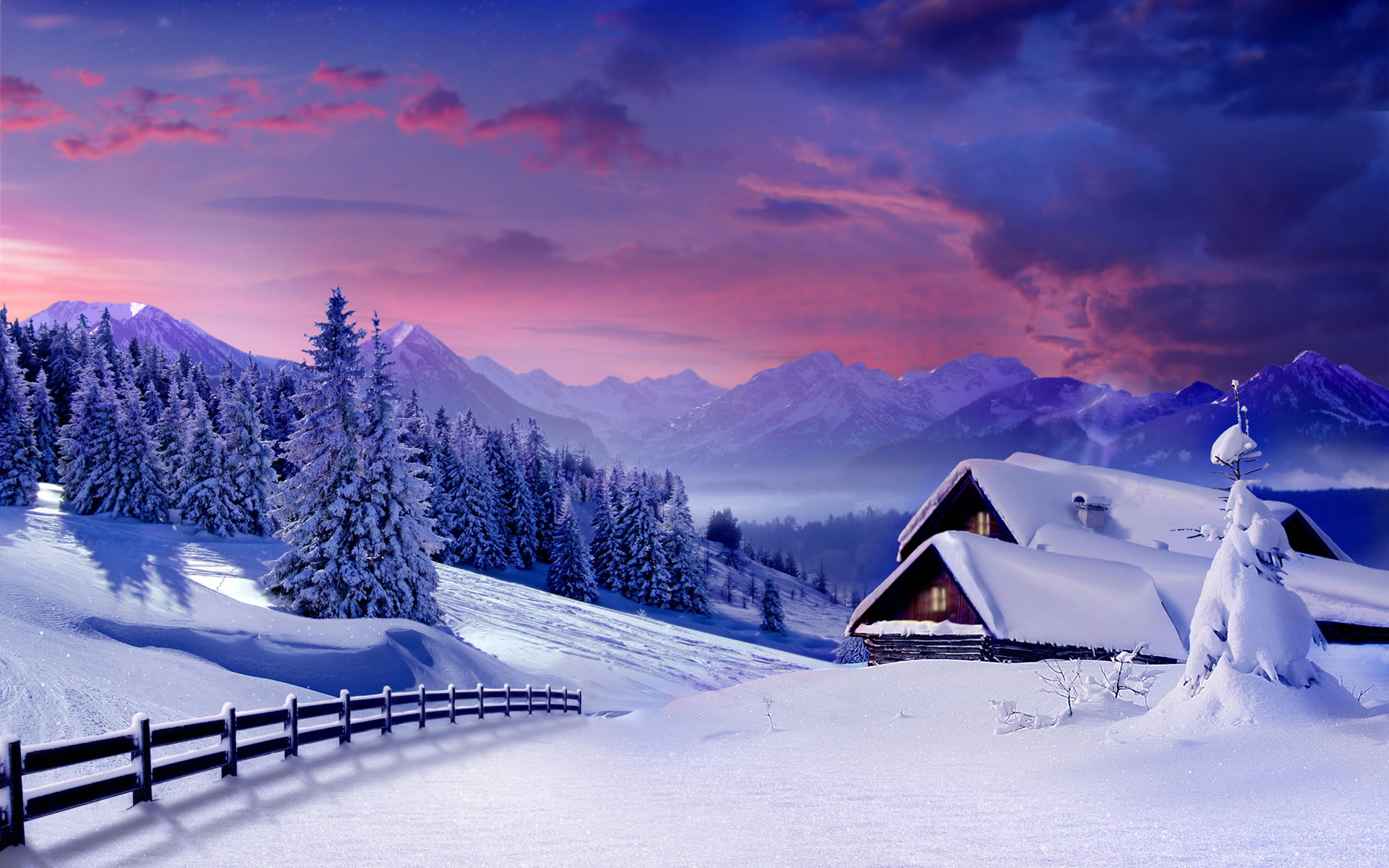 Winter In The Mountains Wallpaper 11107 Wallpaper Wallpaper hd 1920x1200