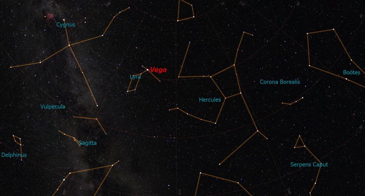 Vega Shines Overhead in Lyra Constellation This Week Space 1200x645