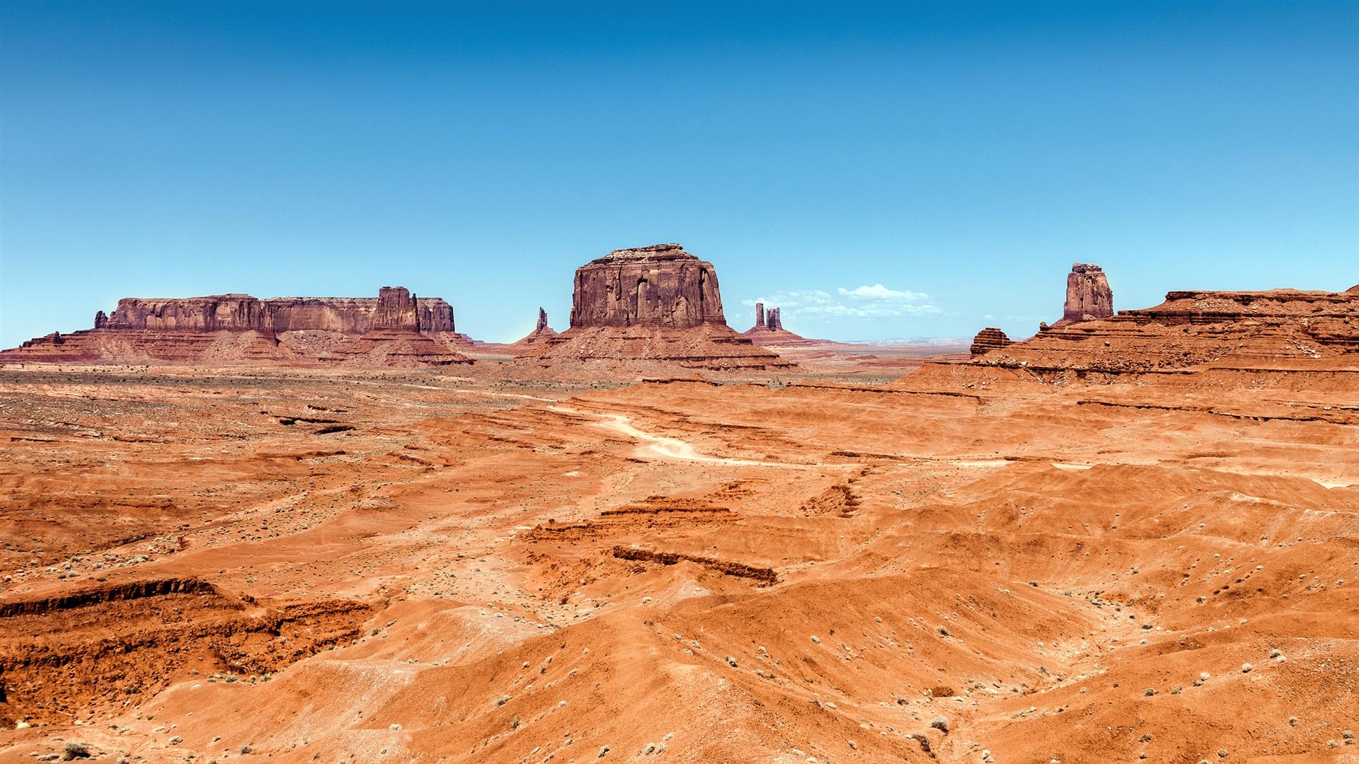 Valley desert rocks Utah Arizona USA Wallpaper Desktop Wallpapers 1920x1080