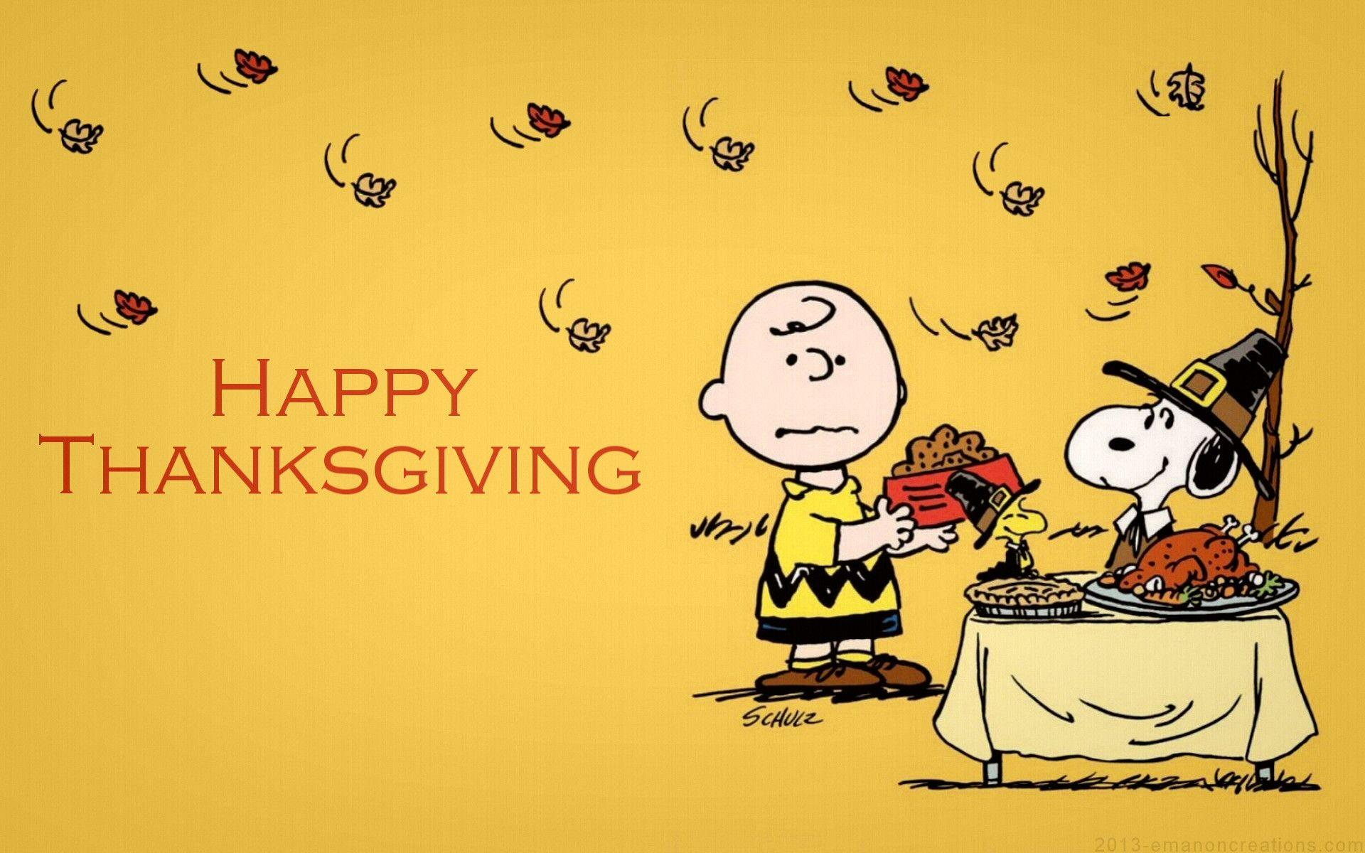 Peanuts Thanksgiving Wallpapers 1920x1200