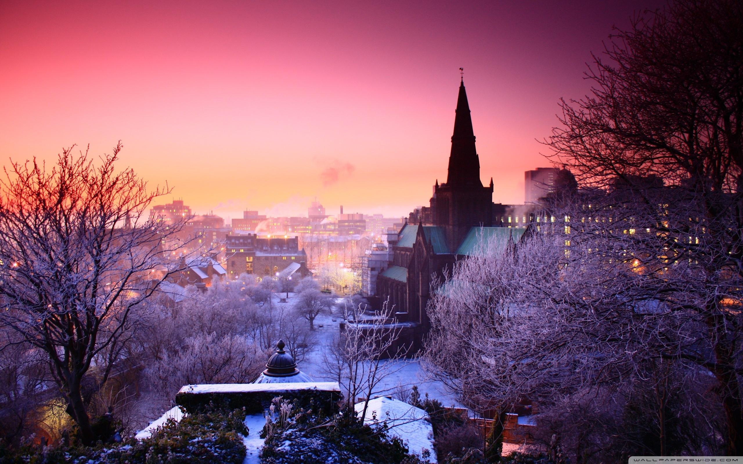City Winter Wallpaper