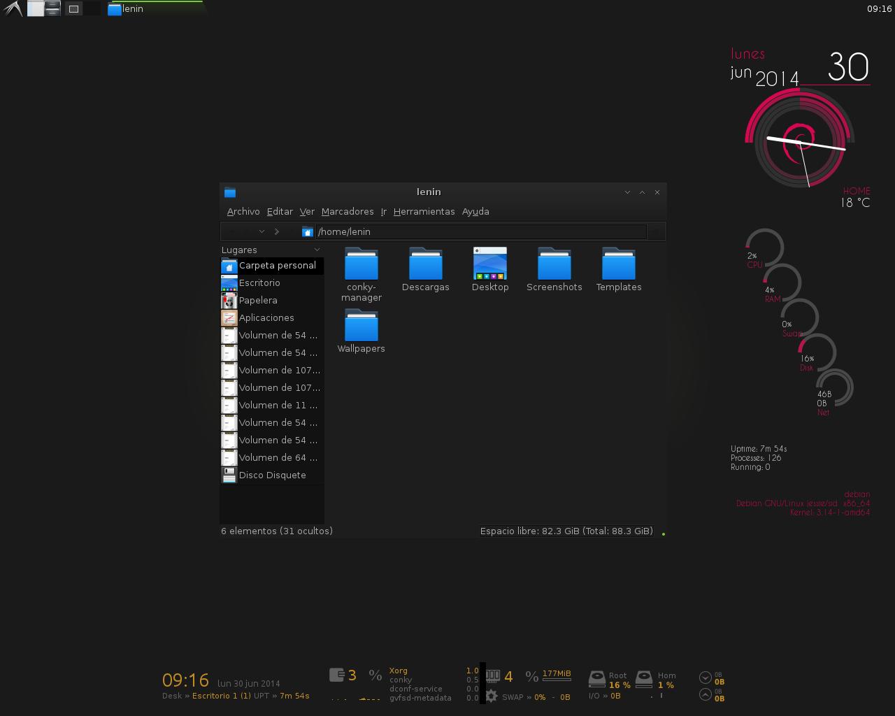 Download Desktop] Debian Jessie LXDE geek desktop Taringa