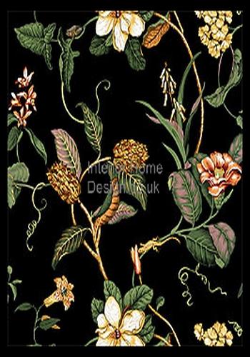 Thibaut Wallpaper   Barbados Wallpaper   Charlotte T1627 Black 350x500