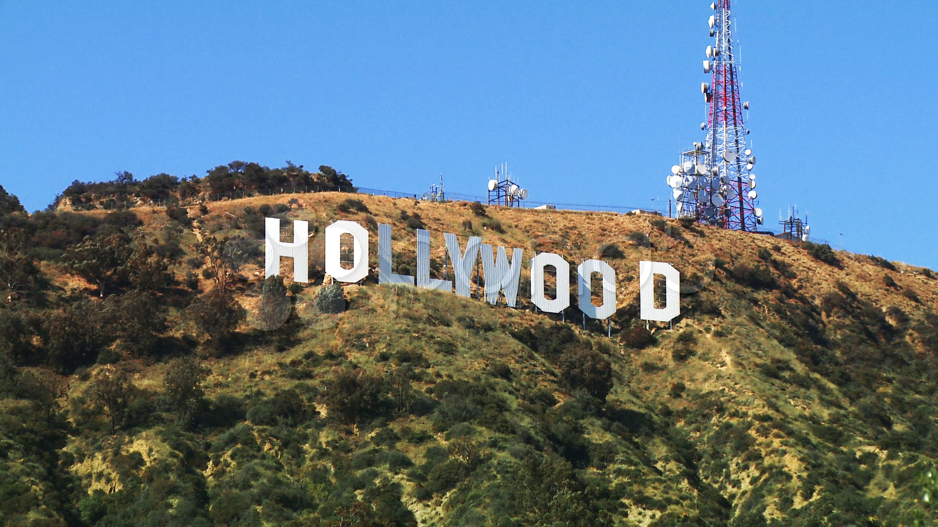 Hollywood Sign At Sunset Wallpaper Hollywood sign zoom in 1920x1080