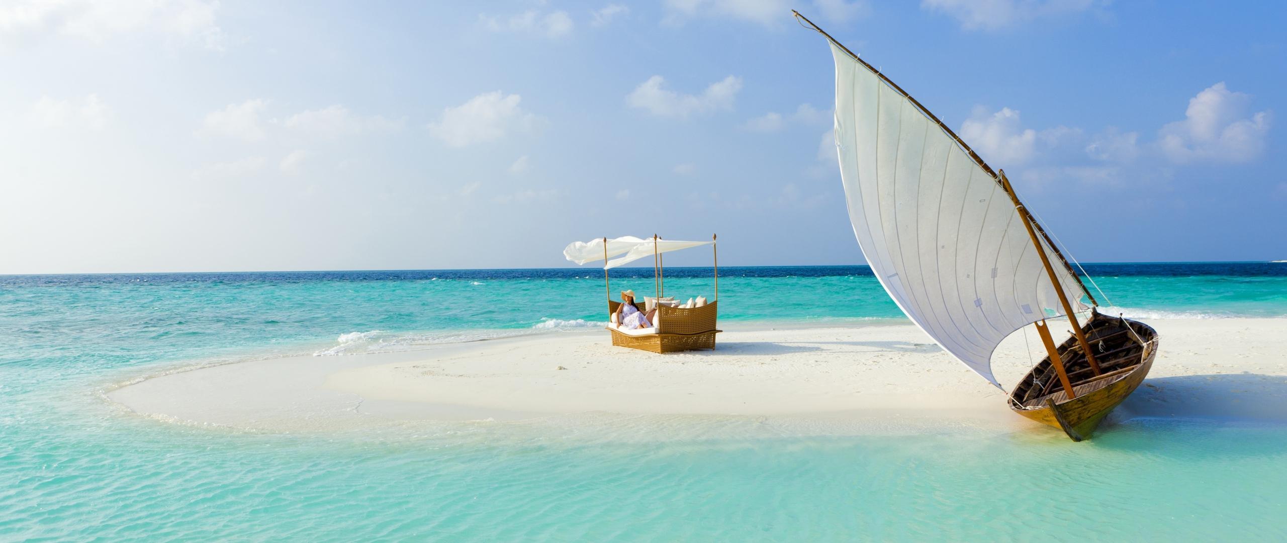 download wallpaper 2560x1080 maldives beach tropical sea hd wallpaper 2560x1080