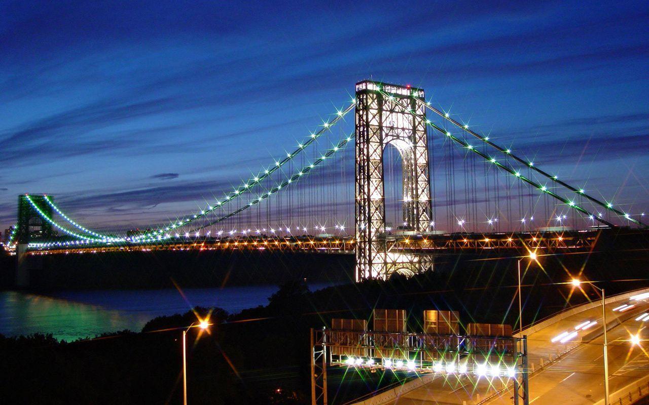 George Washington Bridge Wallpaper 6   1280 X 800 stmednet 1280x800