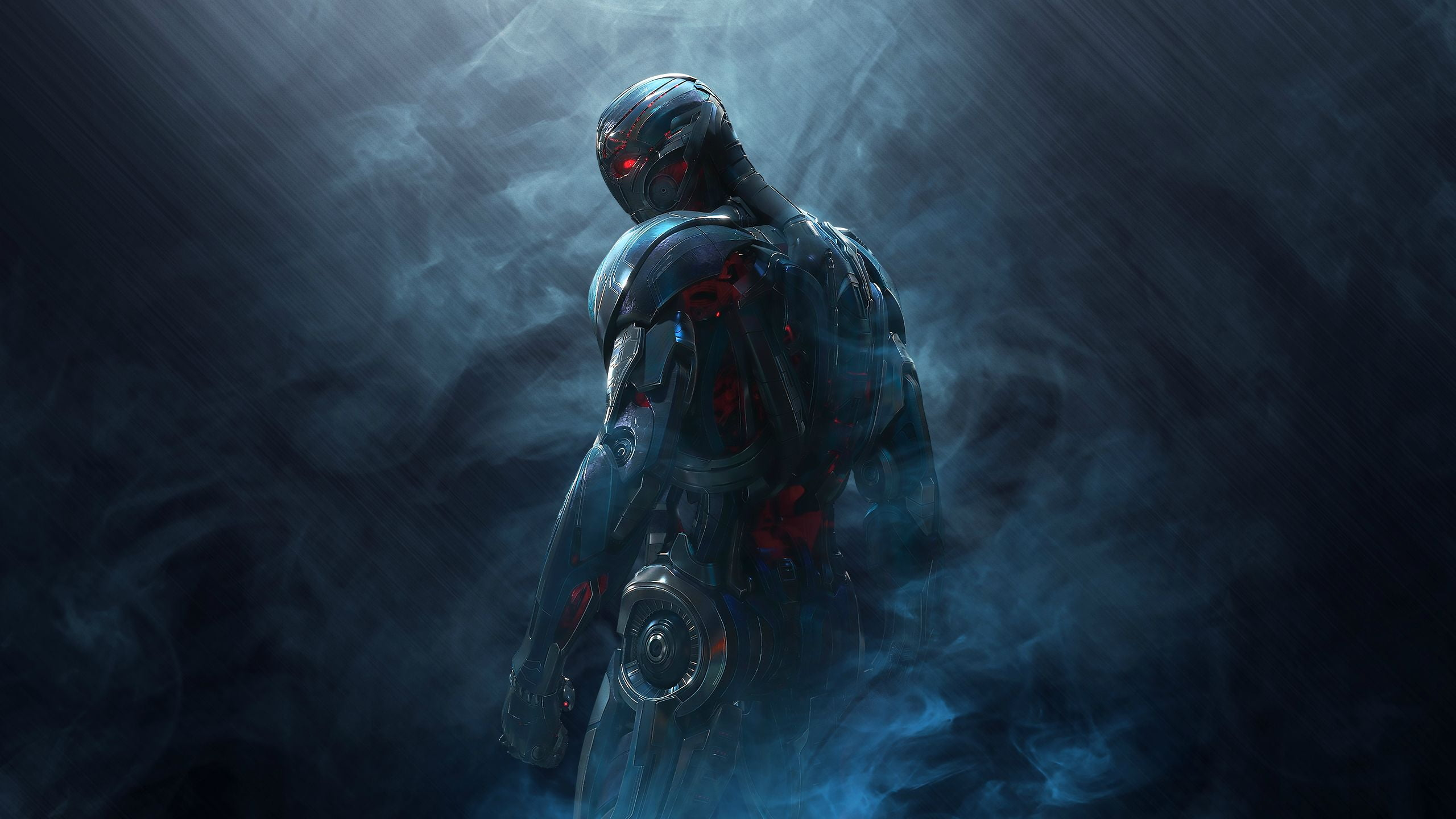 Photo of humanoid game character covered in smoke HD wallpaper 2560x1440