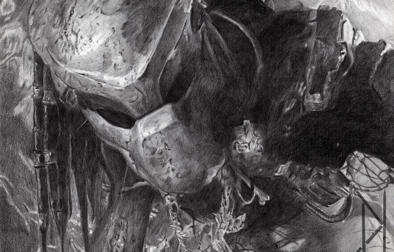 Wallpaper figure predator alien helmet pencil Predator thing 1332x850