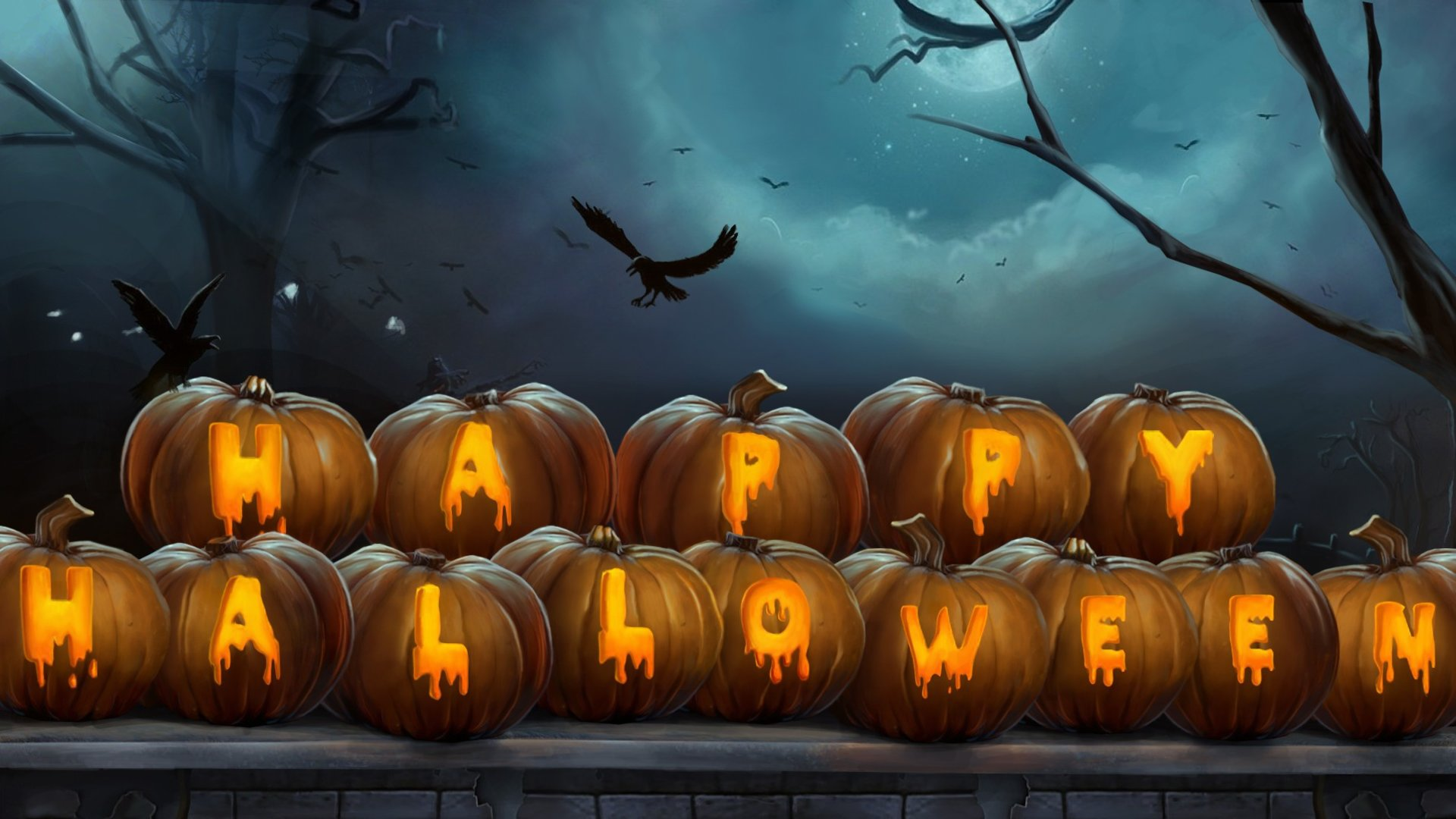 60] Beautiful Halloween Desktop Wallpaper on WallpaperSafari 1920x1080