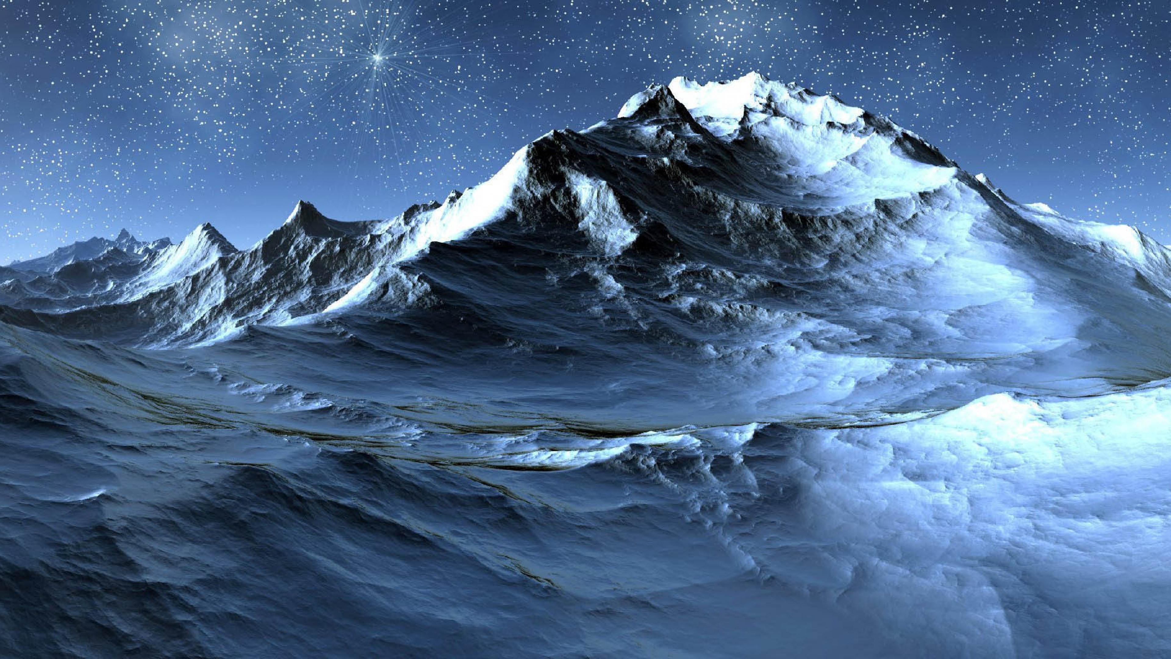 природа космос горы скалы небо звезды ночь  № 851824 загрузить