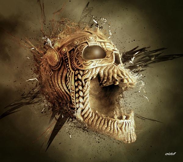 Illustration Dark Skull Art Skull Wallpaper Skulls Skeletons Bones 600x533