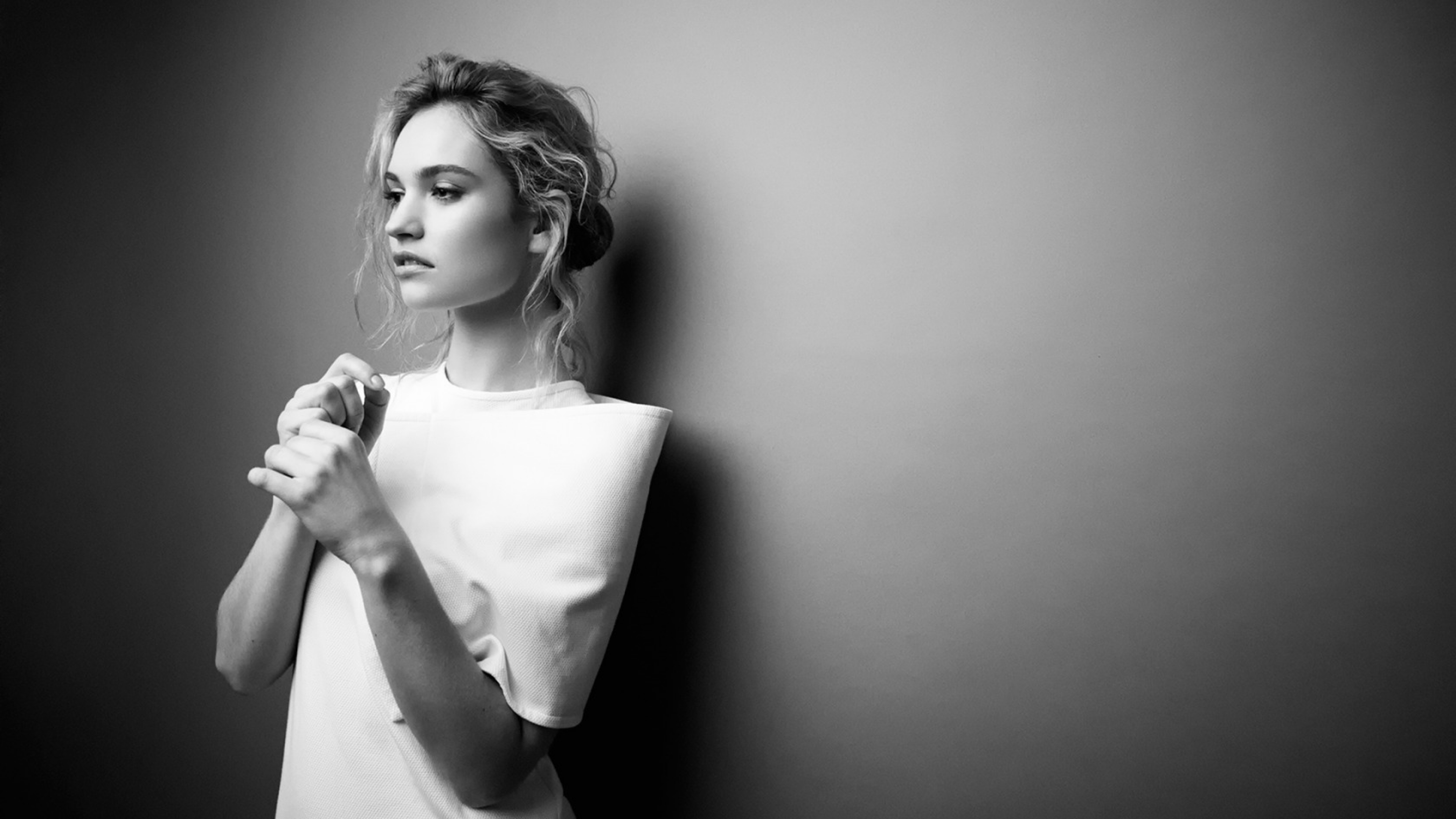 Lily James Celebrity Photoshoot Glamour 4k 2054 Wallpapers and 3840x2160