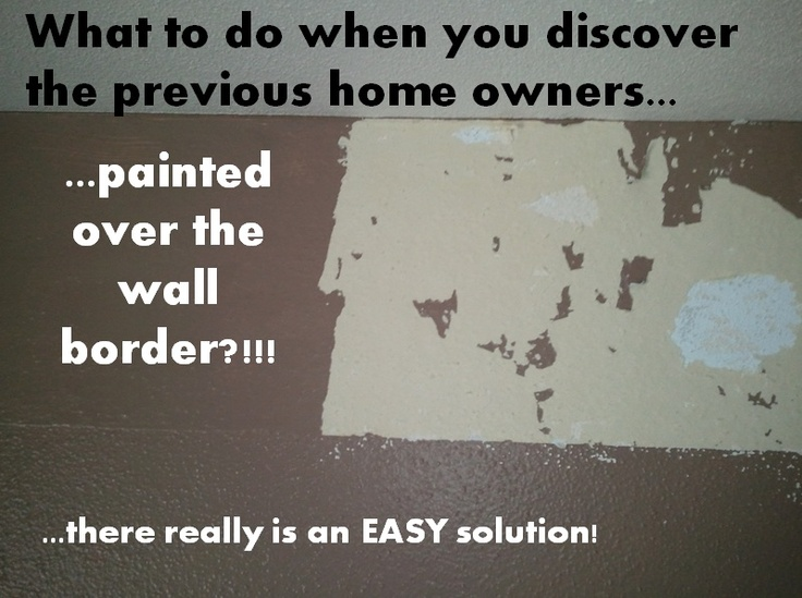 How to remove a painted over wall border wallpaper walls 736x549