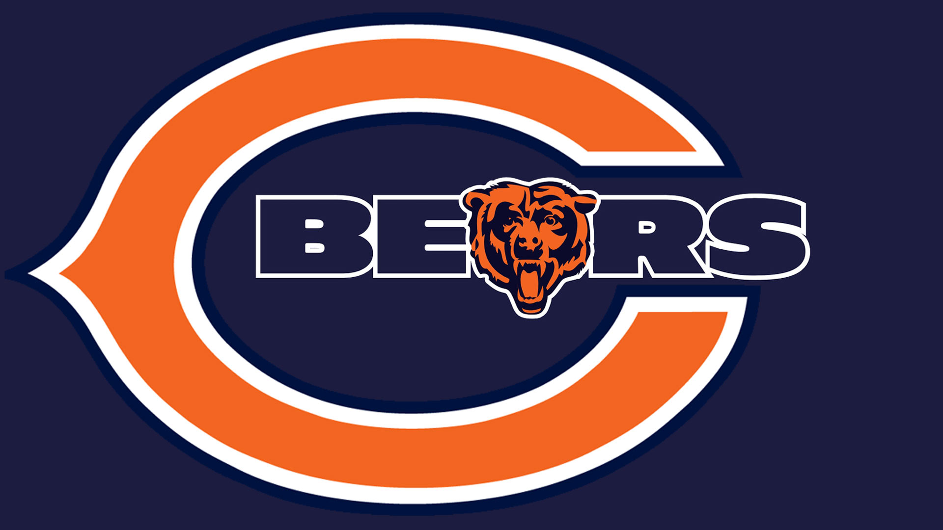 download Download Chicago Bears logo Hd 1080p Wallpaper 1920x1080