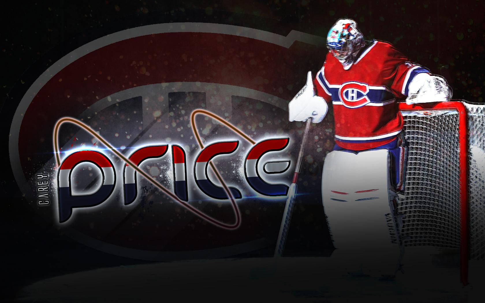 desktop wallpaper featuring Montreal Canadiens goaltender Carey 1680x1050