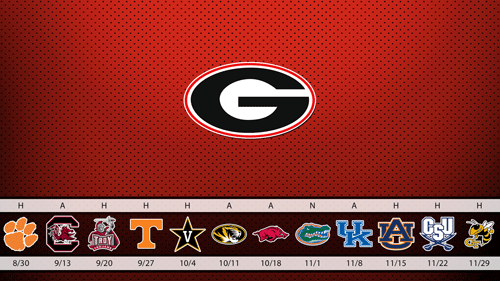 2014 UGA Football Schedule Wallpaper 500x281