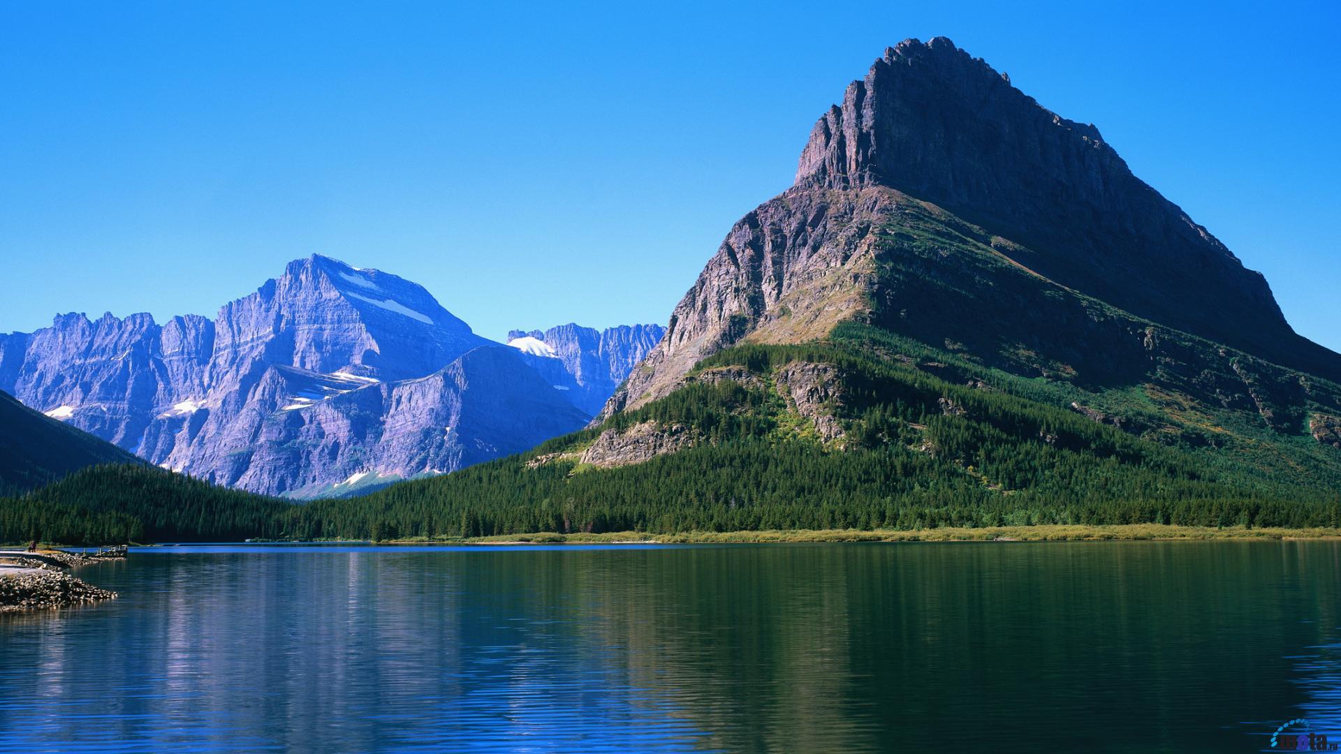 Desktop wallpapers Grinnell Lake Glacier National Park US 1920x1080