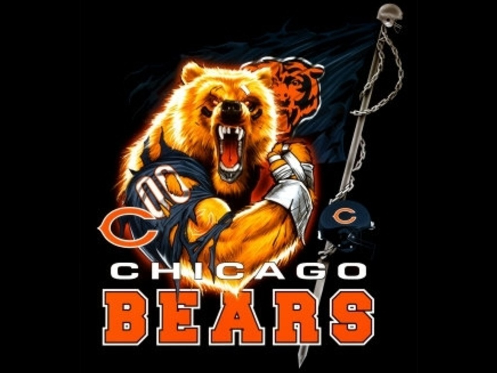 black chicago bears wallpaper 1024x768