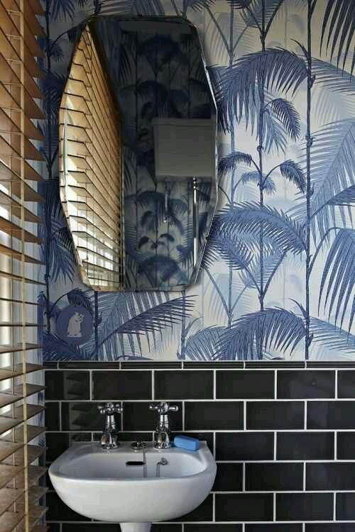 Bold bathroom tile wallpaper designs Design Indulgences 500x750