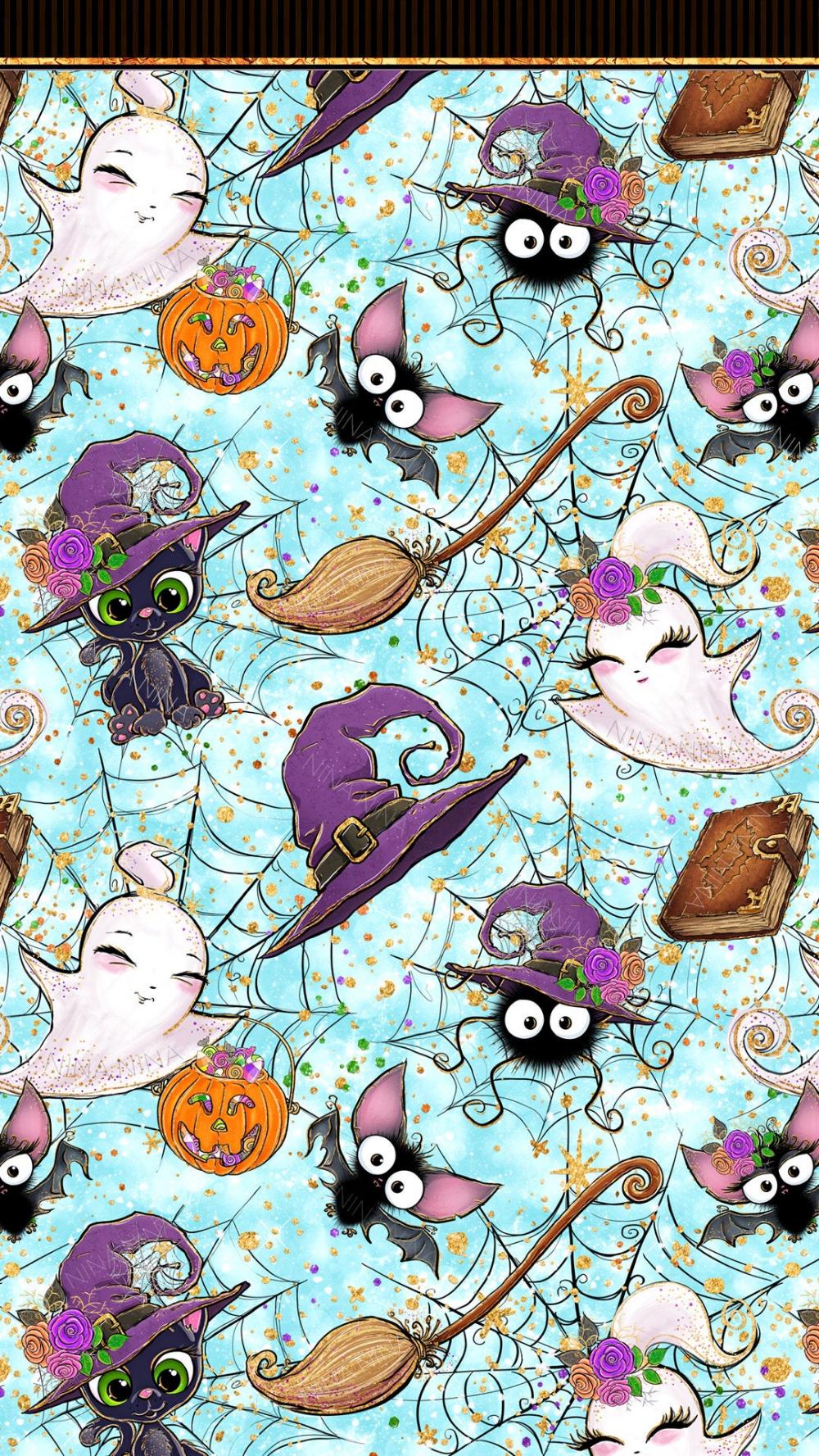 Cute Halloween Digital Papers Halloween Seamless Patterns Etsy 1000x1777