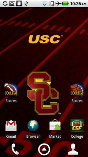 licensed usc trojans live wallpaper with animated 3d logo background 288x512