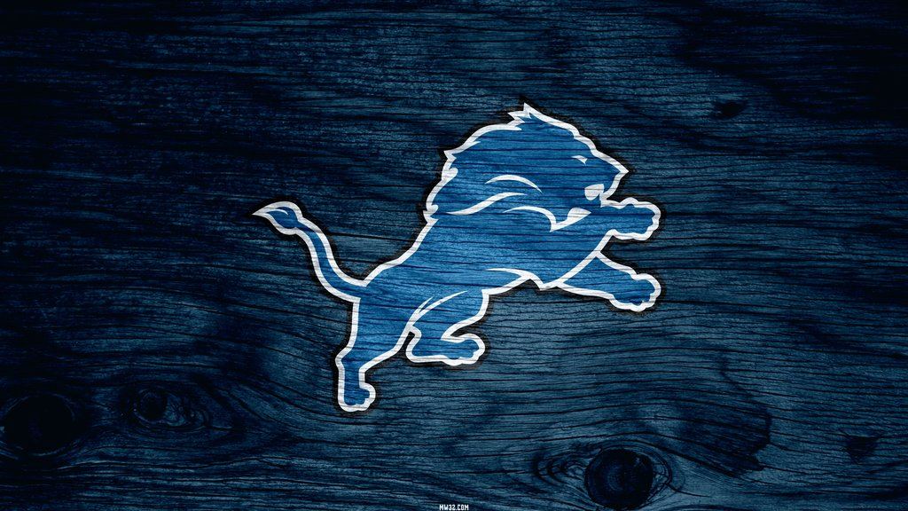 Detroit Lions Blue Weathered Wood Wallpaper for Samsung Galaxy S3 1024x576