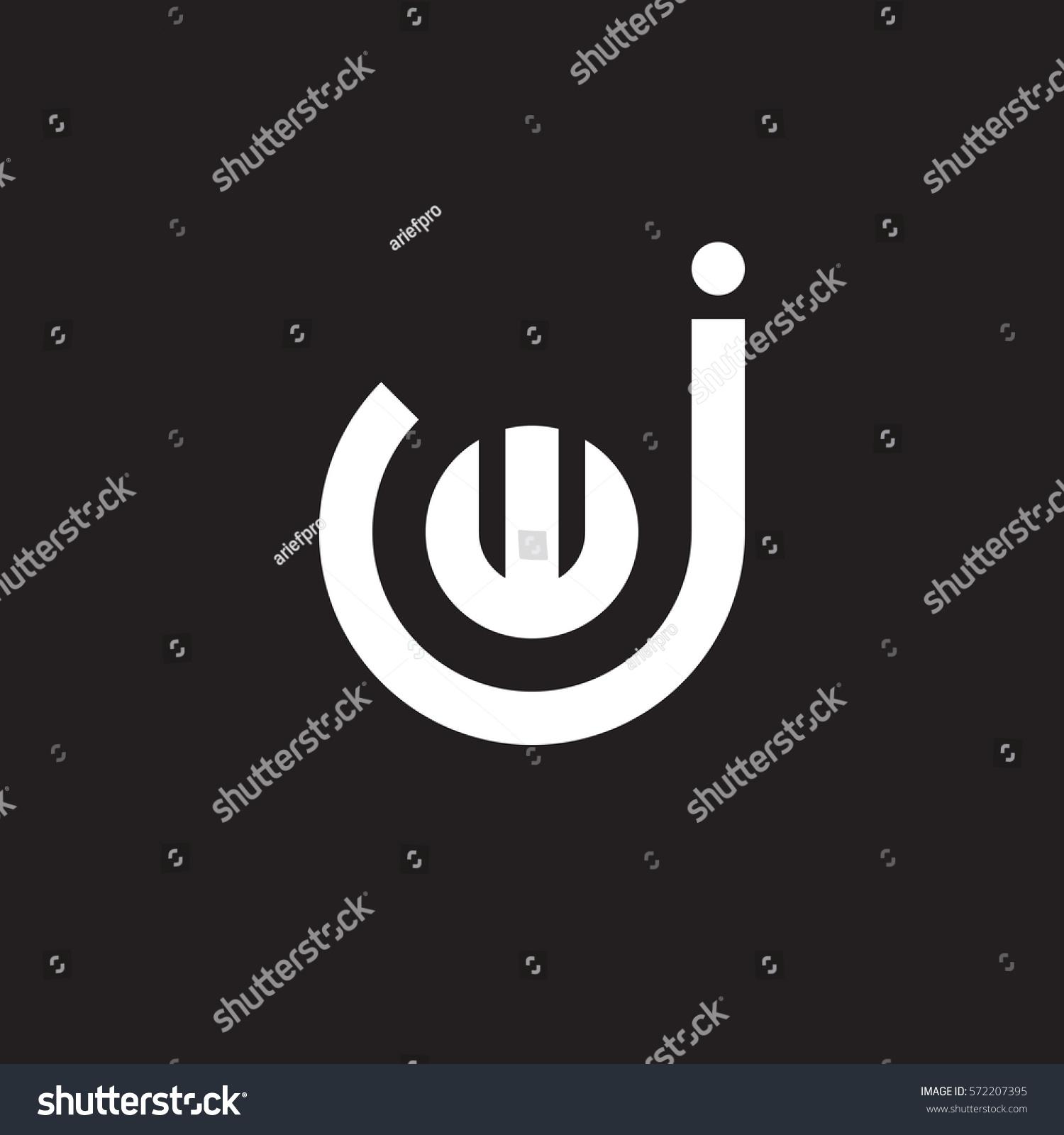 Initial Letter Logo Jw Wj W Stock Vector Royalty 572207395 1500x1600