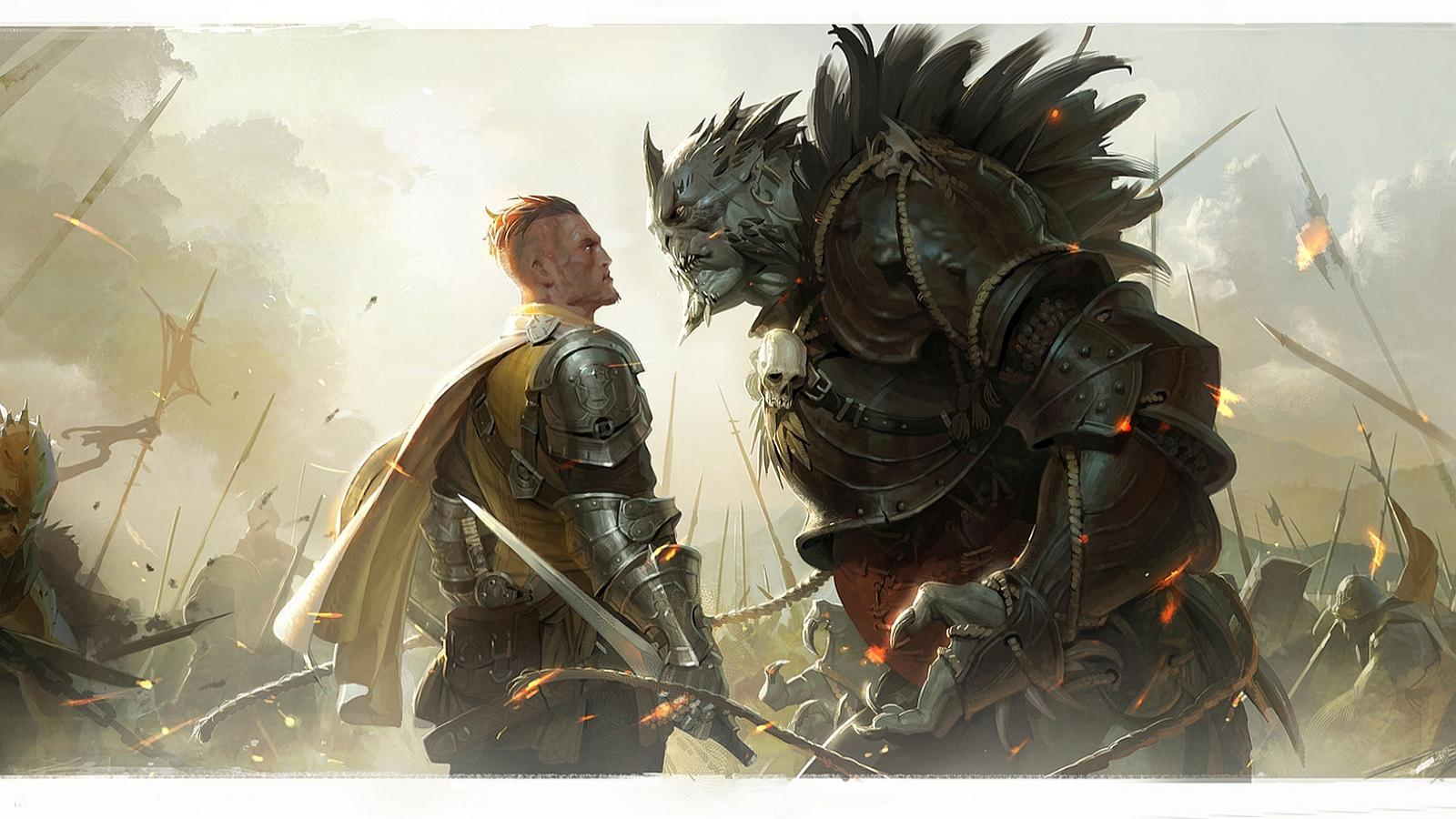man vs orc   146397   High Quality and Resolution Wallpapers on 1600x900