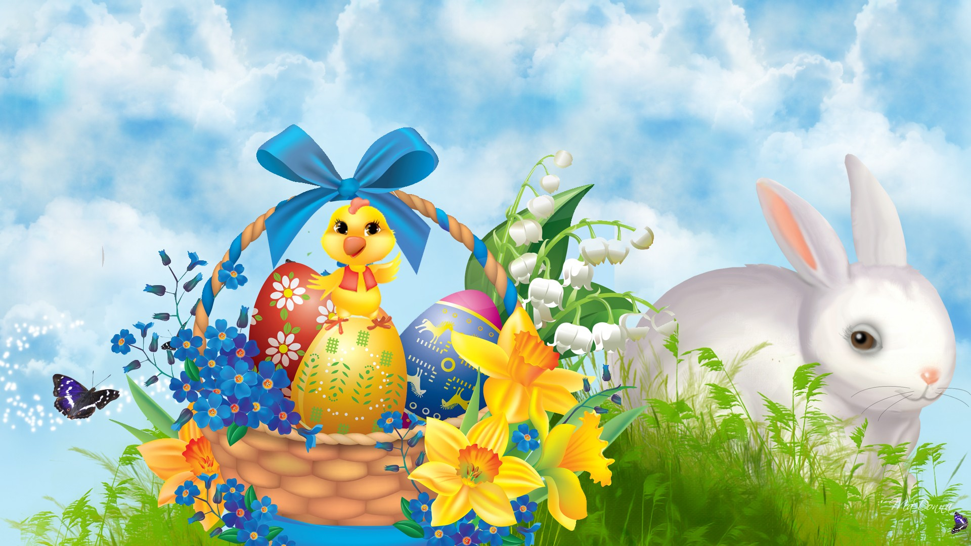 HD Bunnies And Easter Wallpapers Desktop Backgrounds Funmole 1920x1080